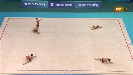 2014 Rhythmic Gymnastics European Championships. Groups Aa. Bulgaria. Clubs. 17.666