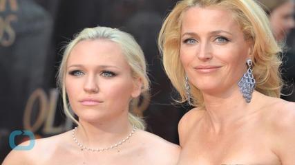 Gillian Anderson Brings Mini-Me Daughter Piper Maru Klotz to Olivier Awards