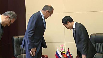 Laos: Lavrov meets Laos FM to strengthen ties
