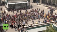Spain: Buildings damaged at Barcelona protest against education reforms