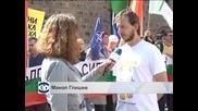 Протест пред президентството в подкрепа на министър Ненчев