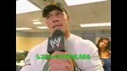 John Cena В Съблекалнята На Wwe Дивите :D