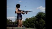 Girl Shoots a .45 cal Tommy Gun