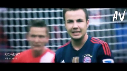 Mario Gotze - All 10 Goals in Bundesliga 2013/14 Season