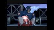 Големият персонаж Стив Роджърс / Капитан Америка от анимациите Върховни Отмъстители 1 и 2 (2006)