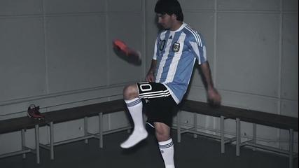 Реклама на Adidas! Меси жонглира с бутонки adizero Prime!