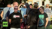 Germany: Pro-refugee demo faces off with far-right stragglers near Dresden