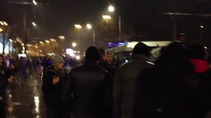 Протести 2013 - Сблъсъкът с Полицията при Орлов мост