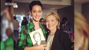 Katy Perry Meets Two Former Presidents and Jokes About Running for Office