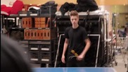 [екслузивно] Behind the Scenes Look at Justin Bieber's Proactiv Commercial Shoot (official)