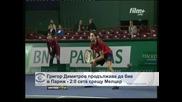 Григор Димитров продължава да бие в Париж – 2:0 сета срещу Мелцер