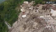 Drone Footage Shows Extent of Italian Earthquake Devastation