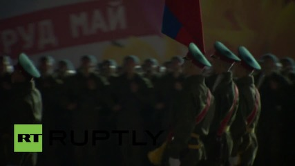 Russia: Special night-time rehearsal of V-Day parade draws thousands