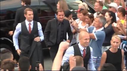 Шумно посрещане за Роналдо преди жребия в Монако