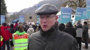 Germany: AfD protest Merkel's refugee policy in Wildbad Kreuth