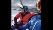 David Bisbal Snowboarding