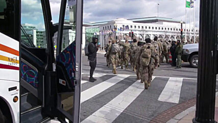 USA: More National Guard troops arrive to provide security in DC after Biden inaugurated