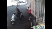Опит за возене със скутер - uget