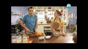 Пържоли с балсамов оцет, Капрезе с маслини, череши във вино, макарони със сирена - Бон Апети (13.06)