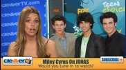 Miley Cyrus May Guest Star On Jonas (б Г субс)