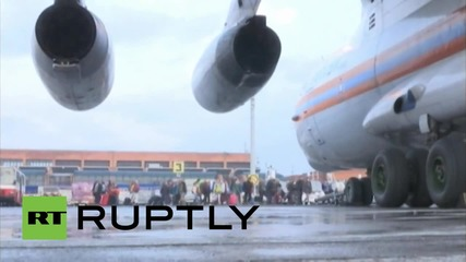 Nepal: EMERCOM planes fly out desperate civilians from Kathmandu