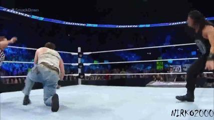 Roman Reigns vs Luke Harper: Wwe Разбиване 13.08.2015