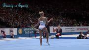 Женска гимнастика - красиви секси моменти