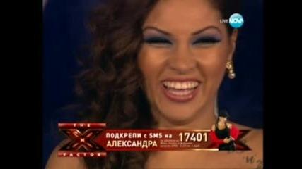 """Невероятно акапелно изпълнение на Сани """"x Factor"""" Финала"""