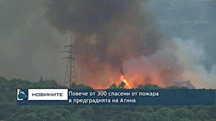 Повече от 300 спасени от пожар в предградията на Атина