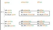 Уча.се-Правилни глаголи в сегашно време,чийто корен завършва на t, d, m, n-Немски език начално ниво
