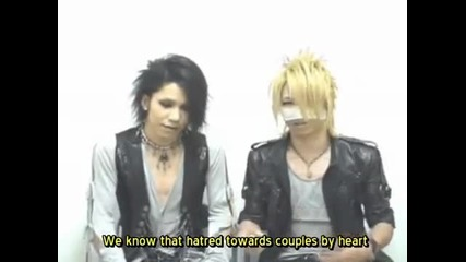 [091013] Aoi and Reita the Gazette ~ Comment [bid] - Mono Globe (subbed)