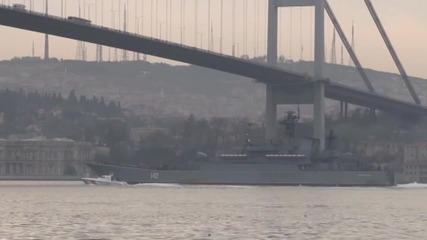 Turkey: Heightened security as Russian battleship passes the Bosphorus Strait