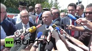 France: Interior Minister Cazeneuve speaks to press after factory attack