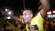 Фенове на Колумбия окупираха хотела на любимците си