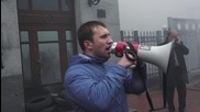 Ukraine: Protesters call for Shevchenko's release outside Russian Cooperation Office in Kiev