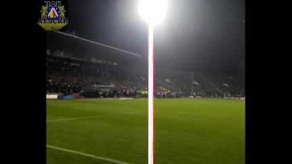 Левски - Барселона Начало