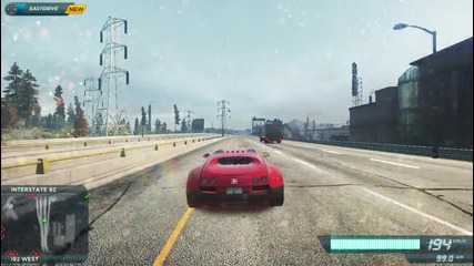 Need For Speed Most Wanted 2012-ускорение на Buggati и катастрофа