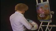 S02 Радостта на живописта с Bob Ross E03 - абаносово море ღобучение в рисуване, живописღ