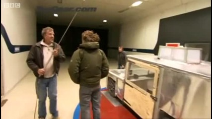 Electric car wind tunnel out - take - Top Gear - Bbc