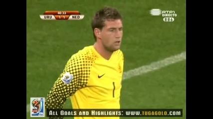 06.07.2010 Уругвай - Холандия 1:1 Гол на Диего Форлан - Мондиал 2010 Юар