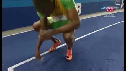 Usain Bolt 19.20 world record 200m Berlin 2009 Hd (hq)