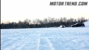 Снежен Дрифт - Subaru Impreza Vs Mitsubishi Lancer Evo !