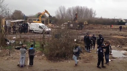 France: Calais authorities bulldoze Church in 'Jungle' refugee camp