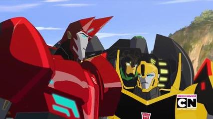 Transformers Robots in Disguise 2015 episode 2 bg sub/трансформърс Роботи под Прикритие епизод 2 бг