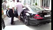Mercedes Sl 65 Amg Black Series Start Up and Accelerates