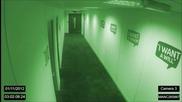 Полтъргайст вилнее в празен офис през нощта