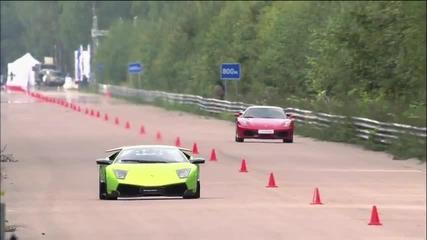 Ferrari F430 vs Lamborghini Lp 670-4 S V