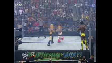 Summerslam 2008-Mickie James&Kofi Kingston vs Santino Marella&Beth Phoenix
