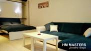 Интериорен дизайн на едностаен апартамент от Hm Masters