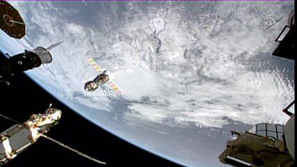 ISS: Soyuz MS-18 spacecraft undocks from space station